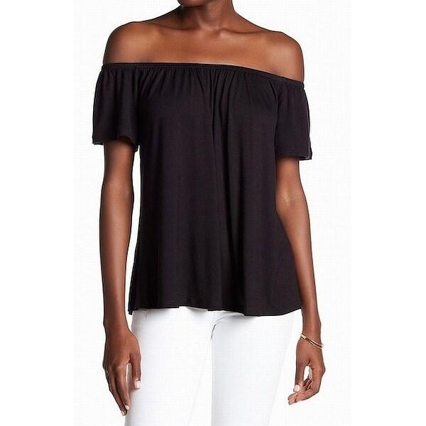 42dba0f4ff9e4 Shop Socialite Black Women's Size Medium M Off Shoulder Shirred Knit ...