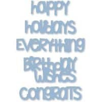Happy Sentiments Drop-Ins - Sizzix Thinlits Dies 5/Pkg By Stephanie Barnard