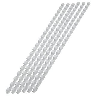 "Unique Bargains 100 Pcs Plastic 0.31"" Dia Binding Comb School Office Students Stationery White"