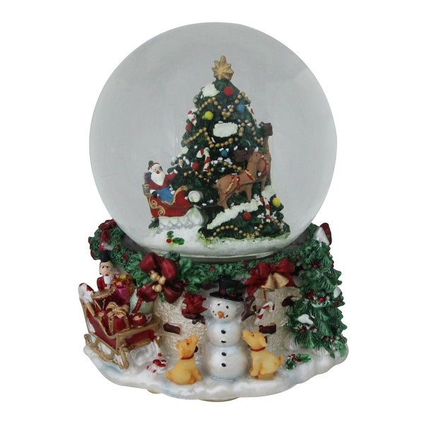 Snowing And Musical Christmas Tree: Shop 6.75 Christmas Tree And Santa Claus Musical Blowing