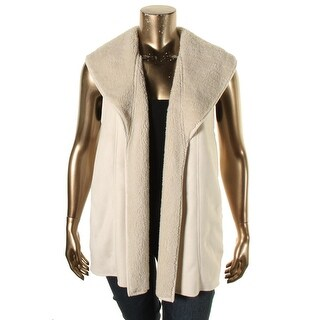 Lauren Ralph Lauren Womens Shados Vest Fleece Mixed Media