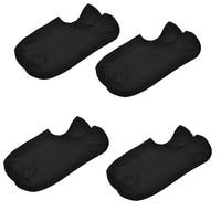 Unique Bargains 4 Pairs Stretchy Girth Low Cut Ankle Boat Socks Black for Men