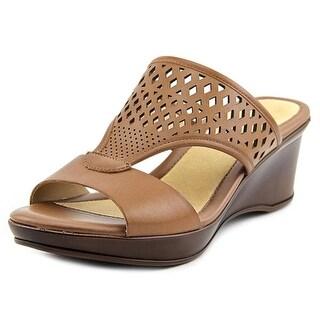 Naturalizer Viola Open Toe Leather Slides Sandal