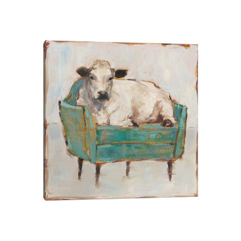 "iCanvas ""Moo-ving In I"" by Ethan Harper Canvas Print"