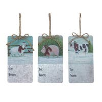 """Club Pack of 12 Blue and White Decorative Farm Animal Wall Hanging 6.25"""""""
