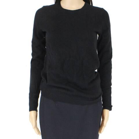 Lark & Ro. Womens Top Black Size XS Crewneck Cashmere Long Sleeve
