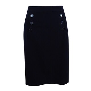 Nine West Women's Button Design Slim Skirt - Black