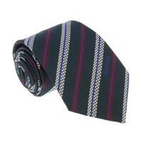 Missoni U5691 Green/Cream Regimental 100% Silk Tie - 60-3