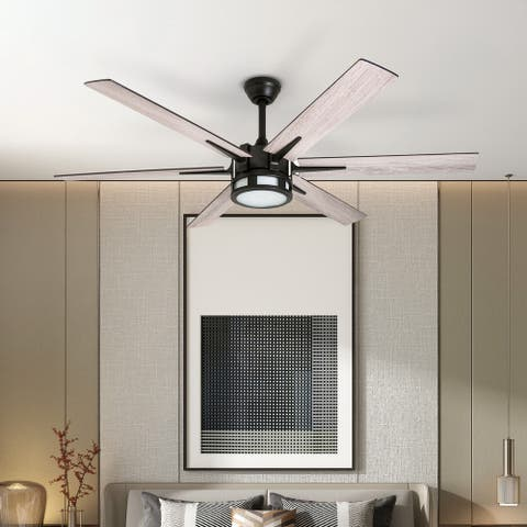 Honeywell Kaliza LED 6-blade Espresso Ceiling Fan w/ Remote - 56-inch