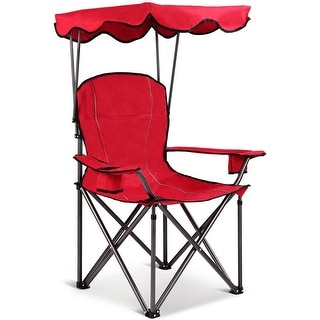 Link to Portable Folding Beach Canopy Chair with Cup Holders-Red Similar Items in Camping & Hiking Gear