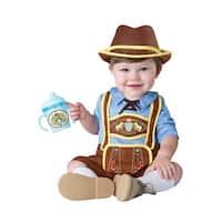 InCharacter Little Lederhosen Infant Costume - Blue/Brown