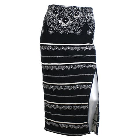 Free People Black Irreplaceable Knit Pencil Skirt S