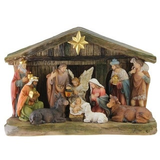 "9.5"" Nativity Scene Christmas Tabletop Decoration with Color Changing LED Light"