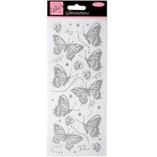 Silver - Anita's Glitterations Butterflies