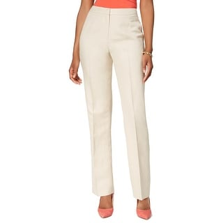 Kasper Womens Kate Straight Leg Pants Linen Classic Fit