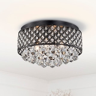 Link to Silver Orchid Taylor 4-light Antique Black Flush Mount Chandelier - 8.7 inches high x 15 inches in diameter Similar Items in Kids' Electronics