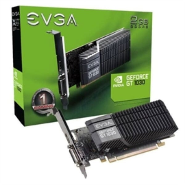 EVGA Video Card 02G-P4-6332-KR 6332 GT 1030 2GB GDDR5 PCI Express DVI-D Single Slot Retail - Pictured. Opens flyout.