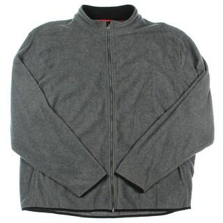 Izod Mens Fleece Mock Neck Basic Jacket - XXL