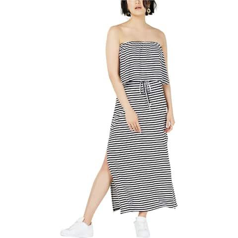 Bar Iii Womens Off Shoulder Maxi Strapless Tiered Dress
