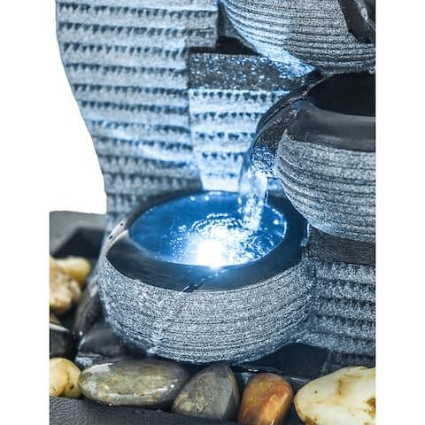4-Tier Desktop Water Fountain Submersible Pump Indoor Decoration