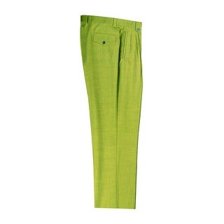 Tea Green Wide Leg Dress Pants Pure Wool by Tiglio Luxe