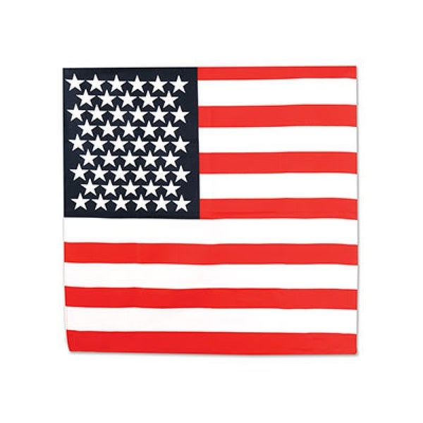 """22"""" American Flag Patriotic Bandana Pack of 12 - One Size"""