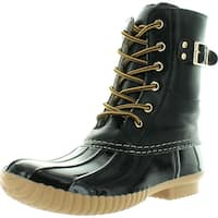 Henry Ferrera Womens Mission-500 Cognac/Navy Duck Foot Lined Boots