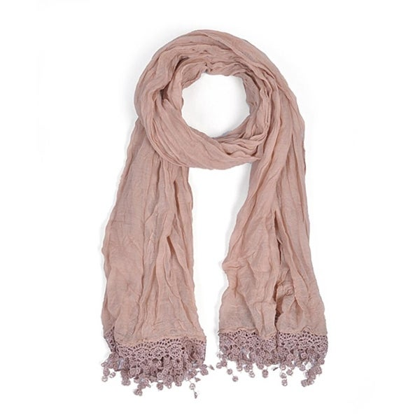 Women's Taupe Viscose Scarf LS4320 - Regular. Opens flyout.