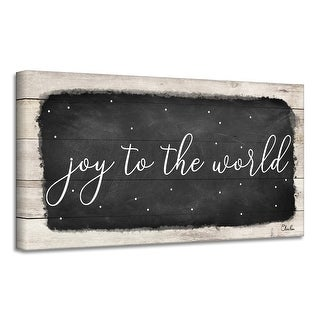 Link to Ready2HangArt 'Joy to the World' Holiday Canvas Wall Art by Olivia Rose Similar Items in Christmas Decorations