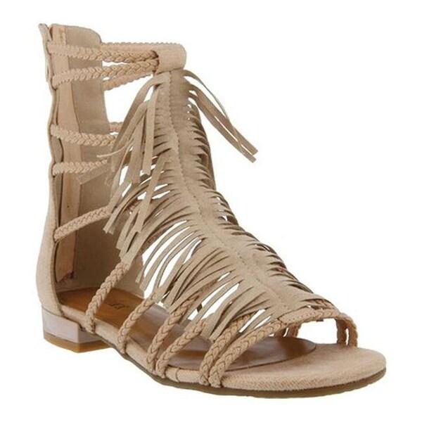 9ccde93dc611 Shop Azura Women s Dashuri Gladiator Sandal Beige Synthetic - On ...