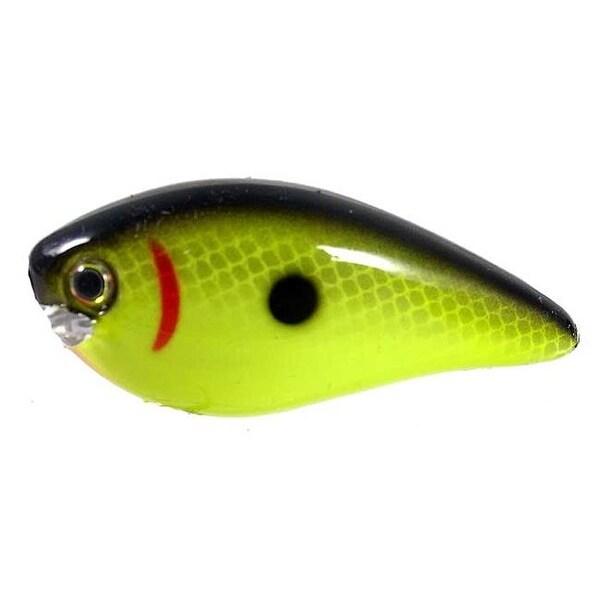 Kvd Square Bill Crank bait - 1 5 in , Chartreuse-Black Back