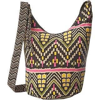 Twig & Arrow Womens Canvas Sloughy Hobo Crossbody Handbag - Multi - Medium