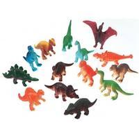 "2"" Plastic Creatures Jungle Dinosaurs - 14 Piece/Pack"