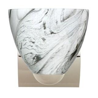 Besa Lighting 1WZ-7572MG-LED Sasha 1 Light LED Bathroom Sconce with Marble Grigio Glass Shade