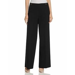 Calvin Klein NEW Black Women's Size 2X32 High-Waist Solid Dress Pants