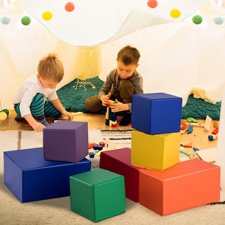 Link to Gymax 7-Piece Set PU Foam Big Building Blocks Colorful Soft Blocks Similar Items in Building Blocks & Sets