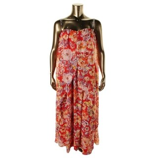 Nine West Womens Chiffon Strapless Maxi Dress