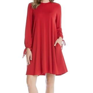 Karen Kane NEW Red Womens Size Medium M Long-Sleeve Stretch Sheath