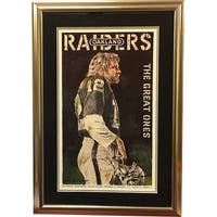 Ken Stabler signed Oakland Raiders SB XI  The Great Ones  155 x 25 Lithograph Premium Custom Framin