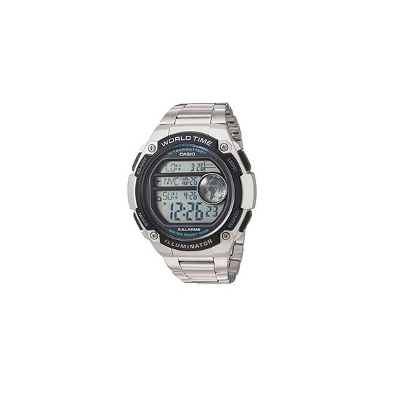 04f96f273 Shop Casio Men's 'Classic' Quartz Resin and Stainless Steel Casual Watch,  Color:Silver-Toned (Model: AE-3000WD-1AVCF) - Free Shipping Today -  Overstock - ...