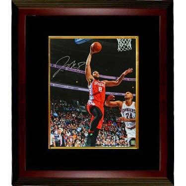 d47e68760 Shop Jahlil Okafor signed Philadelphia 76ers 16x20 Photo Custom Framed red jersey  layup vs Cavaliers - Free Shipping Today - Overstock.com - 19868011
