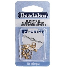 Beadalon Gold Plated EZ-Crimp Cord Ends (10 Pieces)