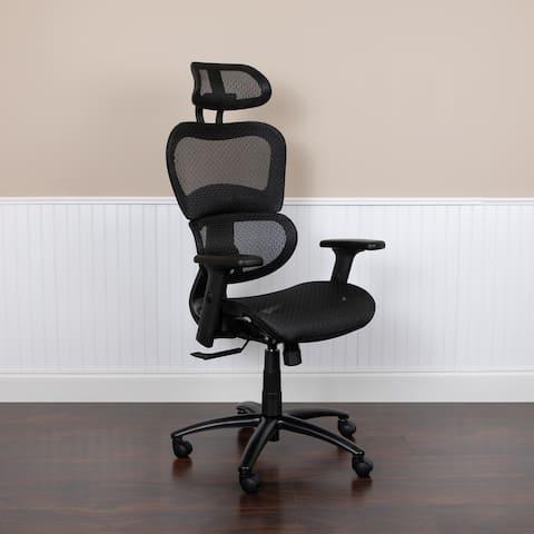 Ergonomic Mesh Office Chair with Synchro-Tilt, Headrest, Adjustable Pivot Arms