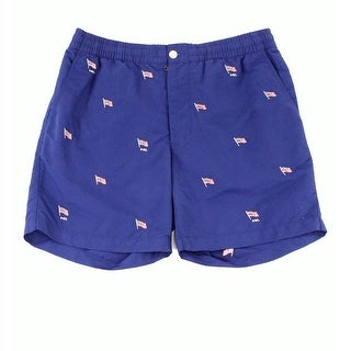 POLO RALPH LAUREN Navy Blue Mens Size XL Embroidered Swim Trunks
