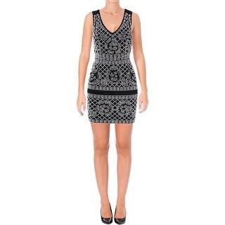 Aqua Womens Cocktail Dress Beaded Sleeveless