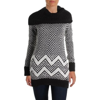 Guess Womens Wool Blend Off-The-Shoulder Tunic Sweater