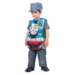 Child Thomas the Tank Candy Catcher Costume Up to sz 6 - one size (size 4-6)