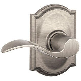 Schlage Accent Lever with Camelot Trim Hall & Closet Lock (Satin Nickel)