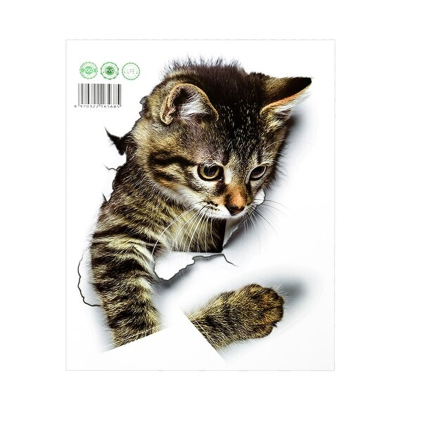 9.8 by 7.9 Inch Artificial 3D Cat Wall Stickers Art Decals Self-sticky DIY