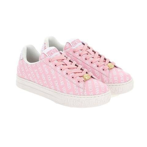 Versace Jeans Couture Signature Print Classic Court Sneakers-